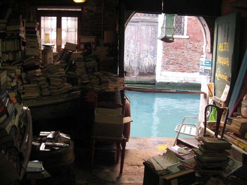 The Libreria Acqua Alta in Venice